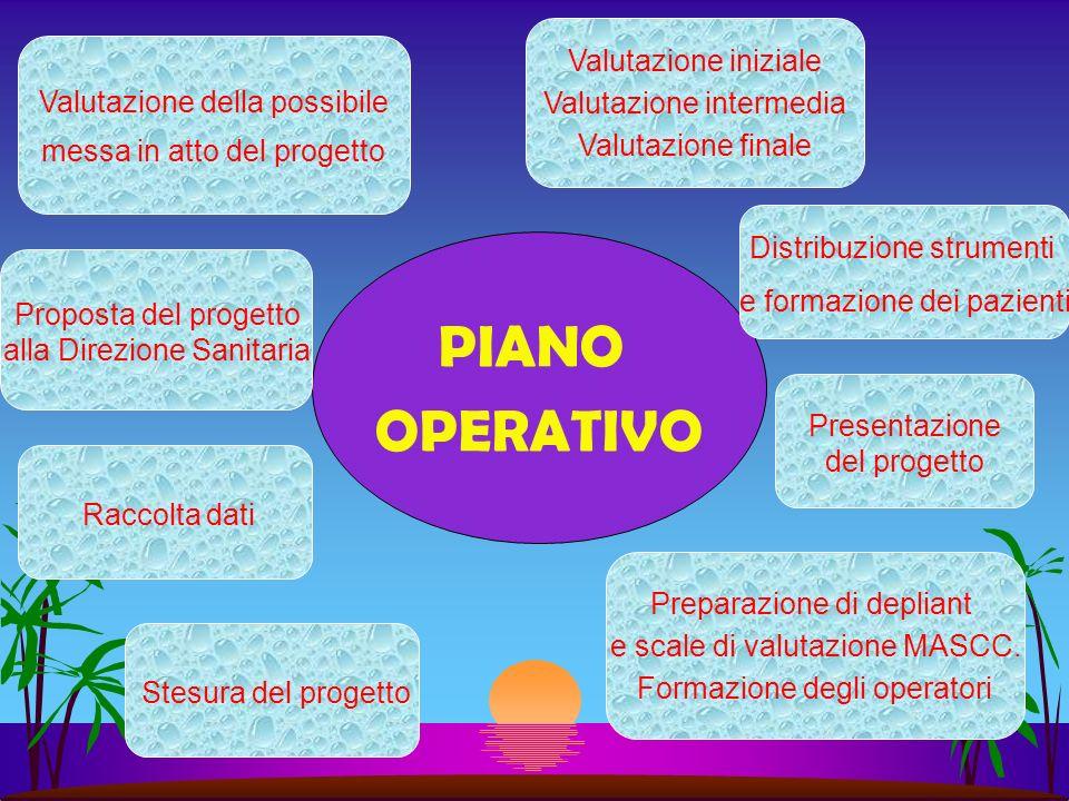 PIANO OPERATIVO Valutazione iniziale Valutazione intermedia