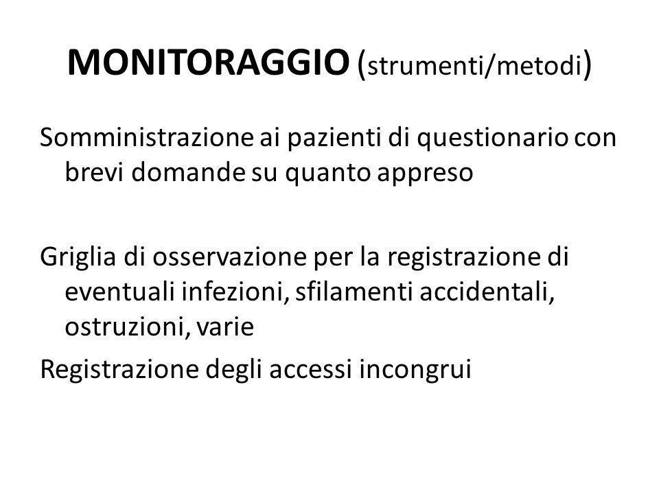 MONITORAGGIO (strumenti/metodi)