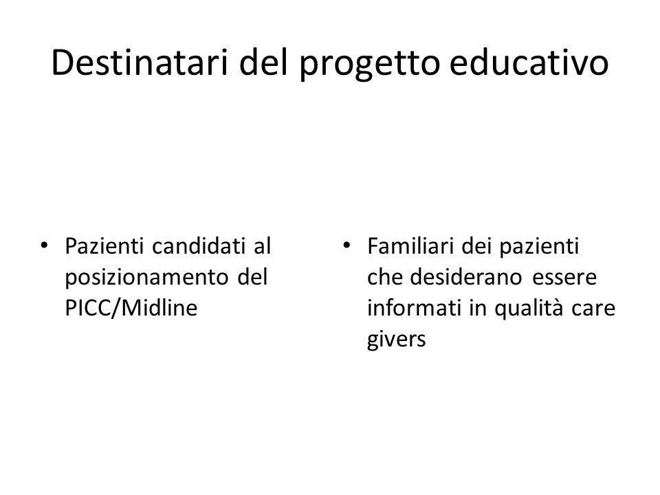 Destinatari del progetto educativo