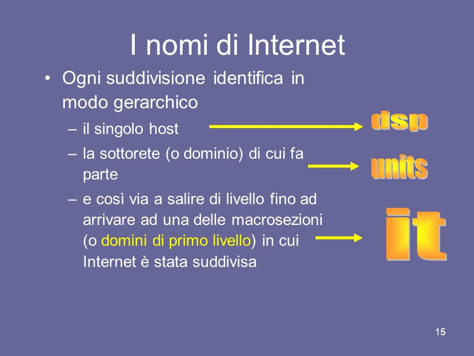 I nomi di Internet dsp units it