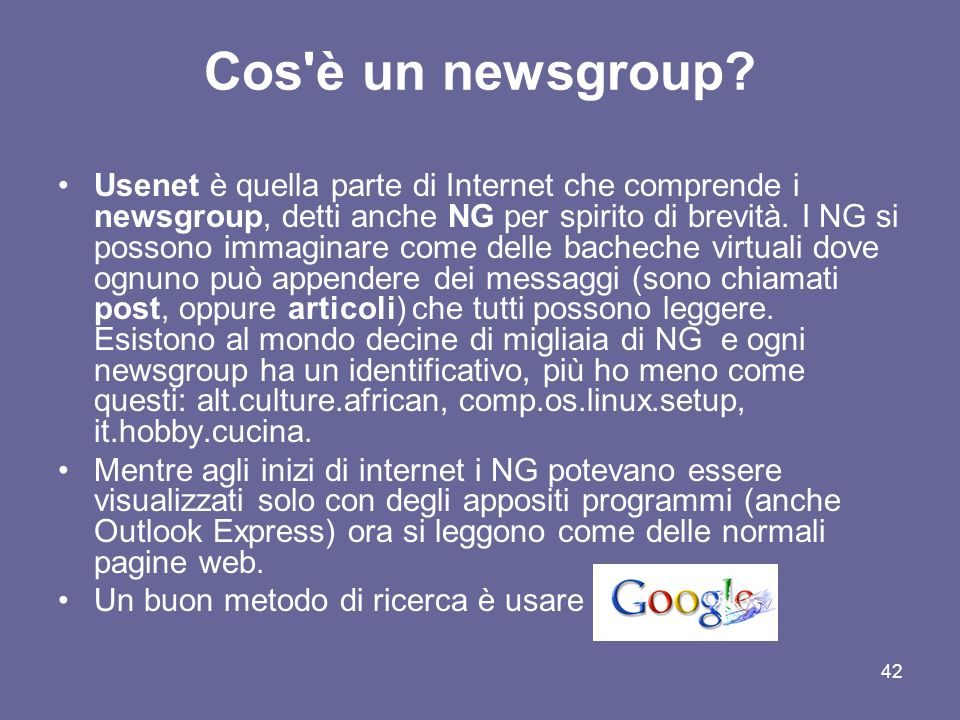 Cos è un newsgroup