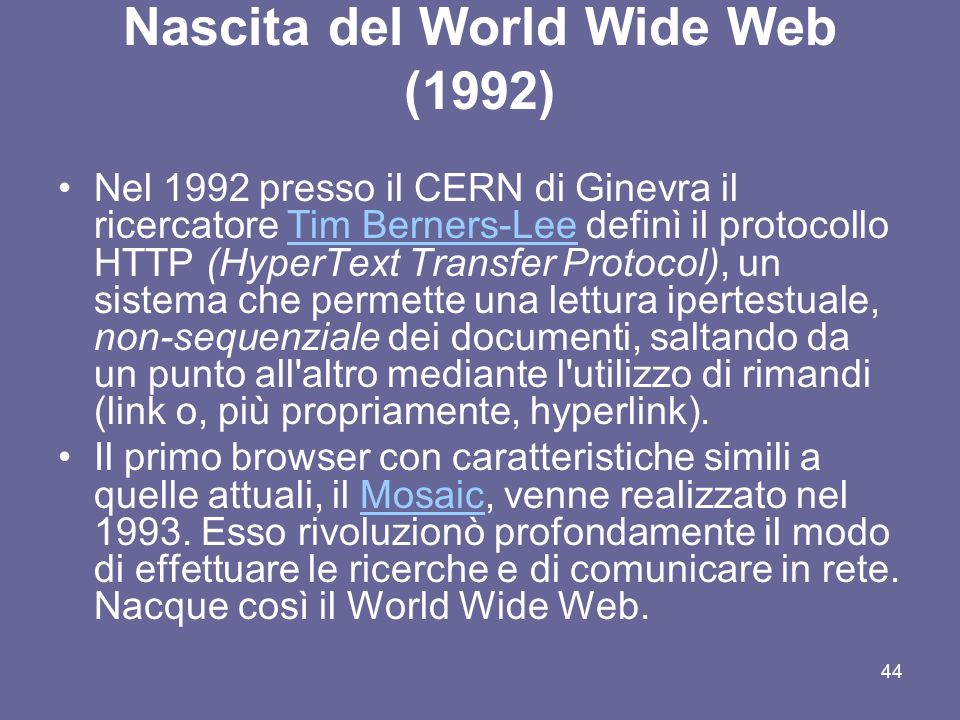 Nascita del World Wide Web (1992)