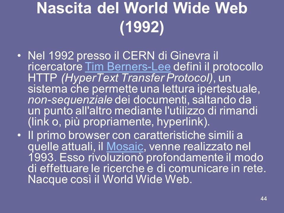 Nascita del World Wide Web (1992)