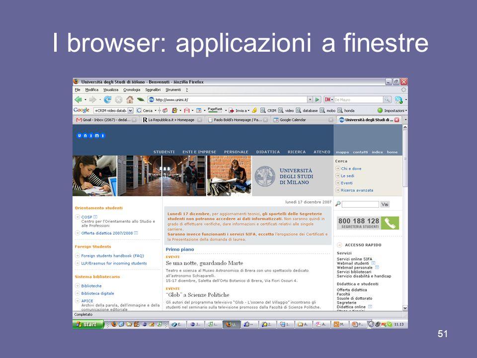 I browser: applicazioni a finestre