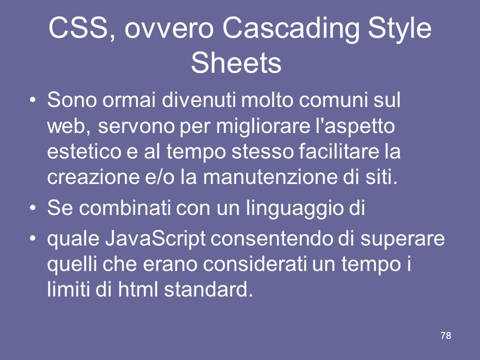 CSS, ovvero Cascading Style Sheets