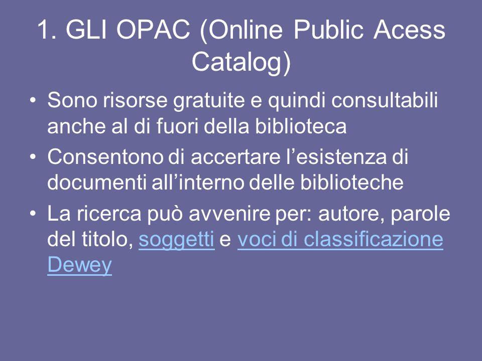 1. GLI OPAC (Online Public Acess Catalog)