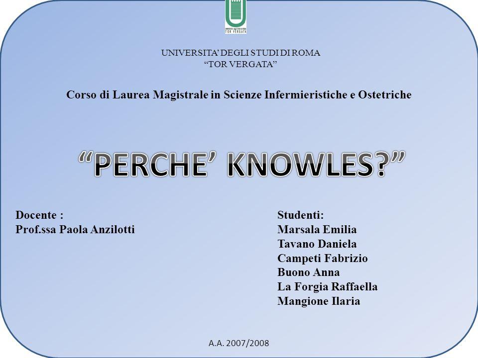 Corso di Laurea Magistrale in Scienze Infermieristiche e Ostetriche