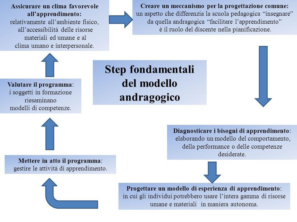 Step fondamentali del modello andragogico