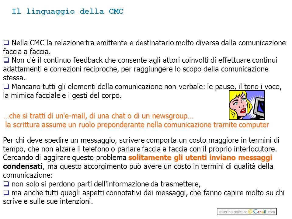 Il linguaggio della CMC