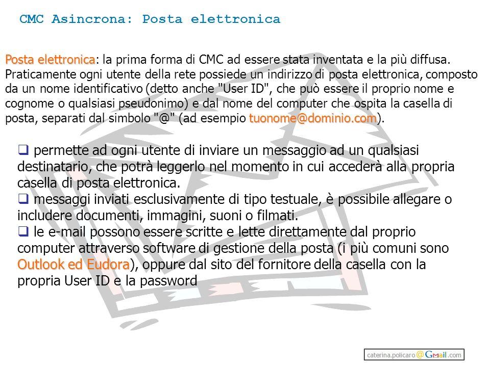 CMC Asincrona: Posta elettronica