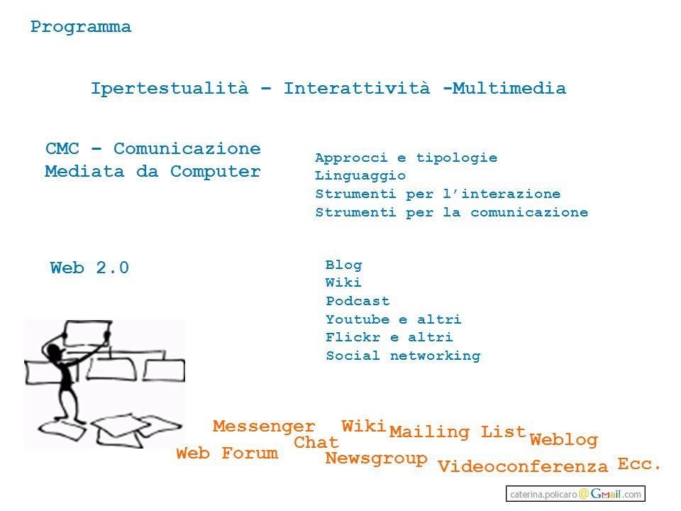 Ipertestualità – Interattività -Multimedia