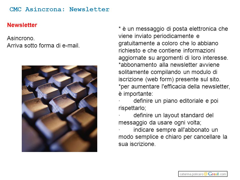 CMC Asincrona: Newsletter