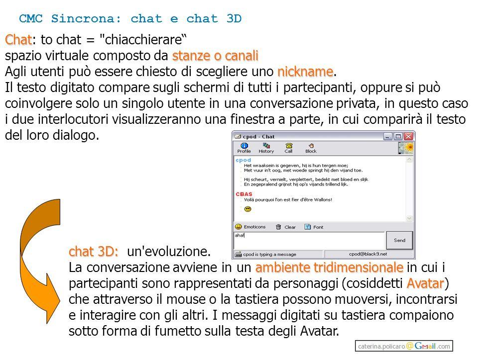 CMC Sincrona: chat e chat 3D