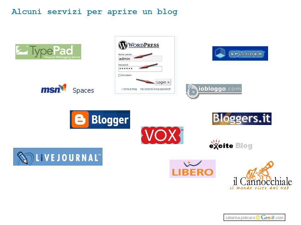Alcuni servizi per aprire un blog