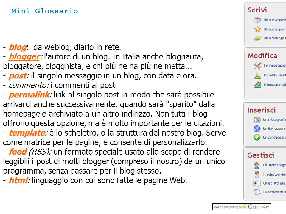 Mini Glossario