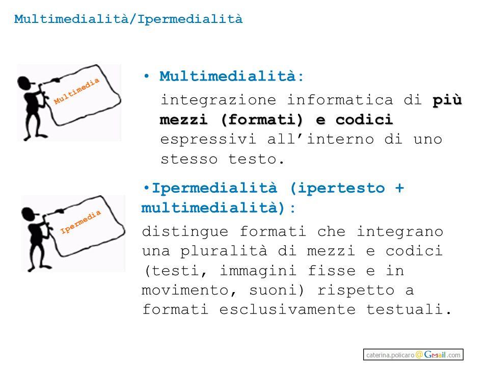 Multimedialità/Ipermedialità