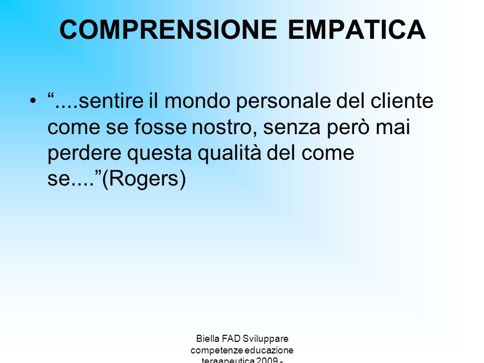 COMPRENSIONE EMPATICA