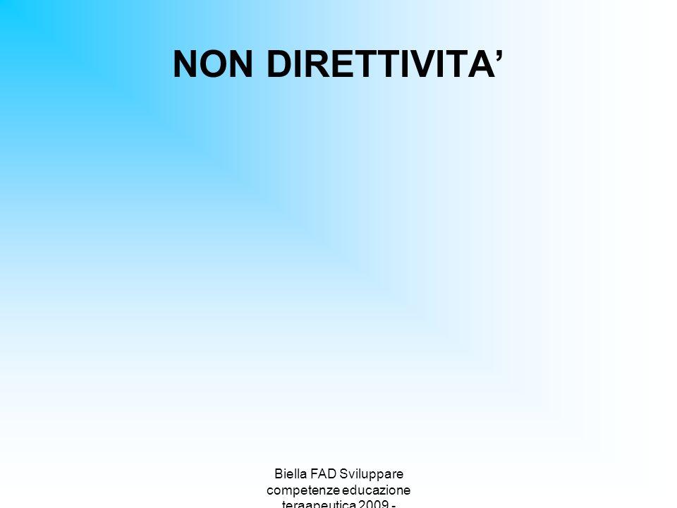Biella FAD Sviluppare competenze educazione teraapeutica 2009 -