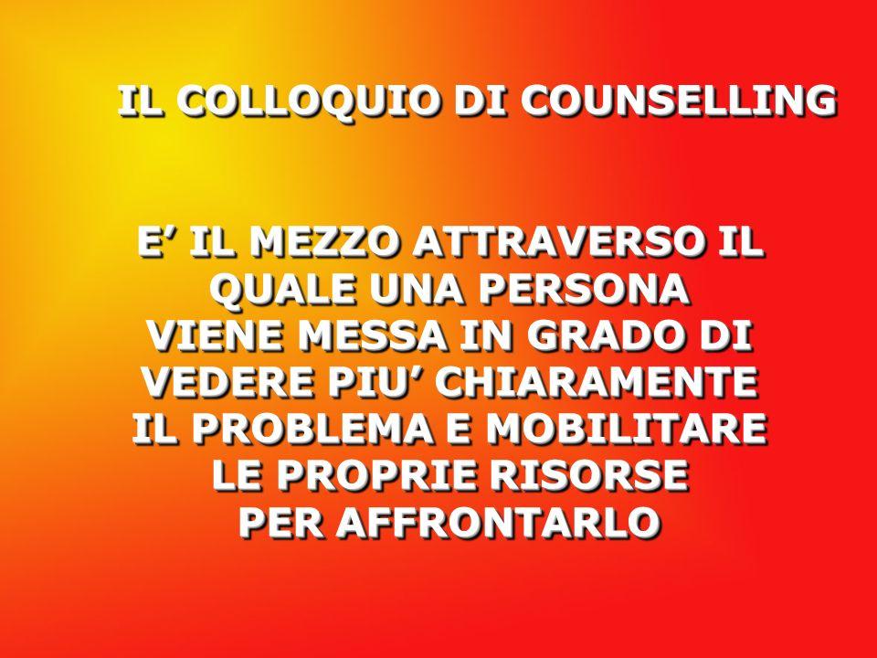IL COLLOQUIO DI COUNSELLING