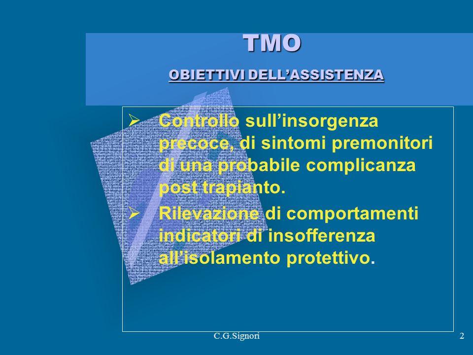 TMO OBIETTIVI DELL'ASSISTENZA