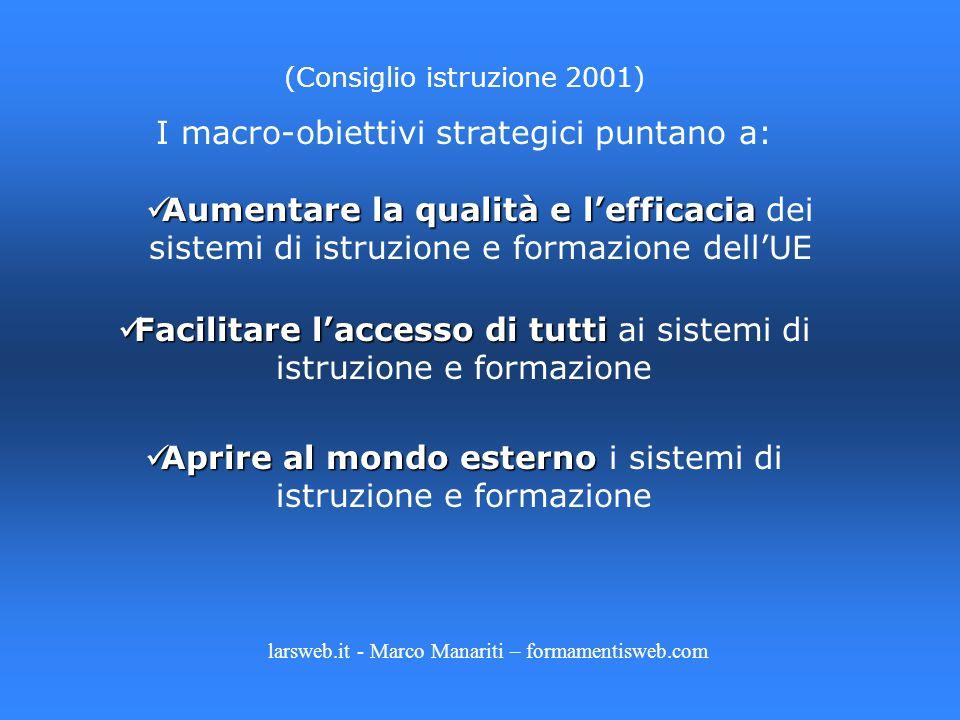 I macro-obiettivi strategici puntano a: