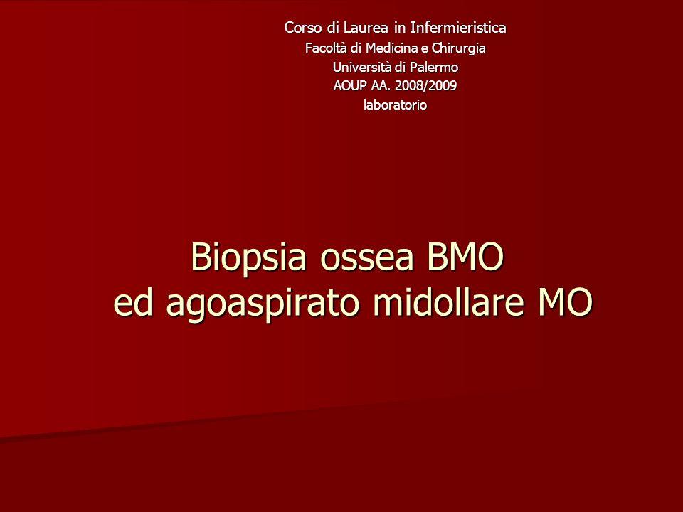 Biopsia ossea BMO ed agoaspirato midollare MO