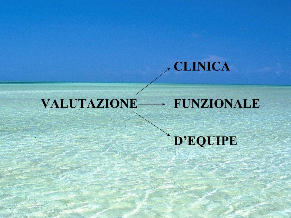 CLINICA VALUTAZIONE FUNZIONALE D'EQUIPE
