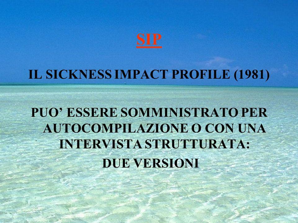IL SICKNESS IMPACT PROFILE (1981)