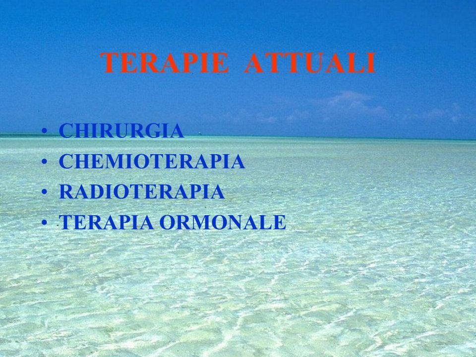 TERAPIE ATTUALI CHIRURGIA CHEMIOTERAPIA RADIOTERAPIA TERAPIA ORMONALE