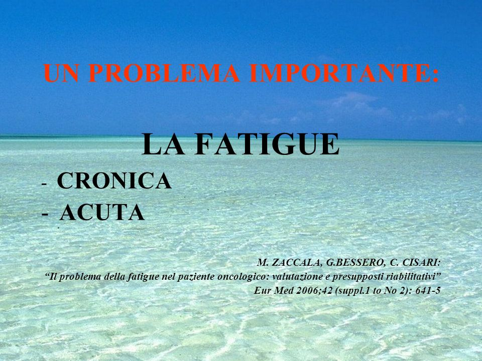 UN PROBLEMA IMPORTANTE: LA FATIGUE