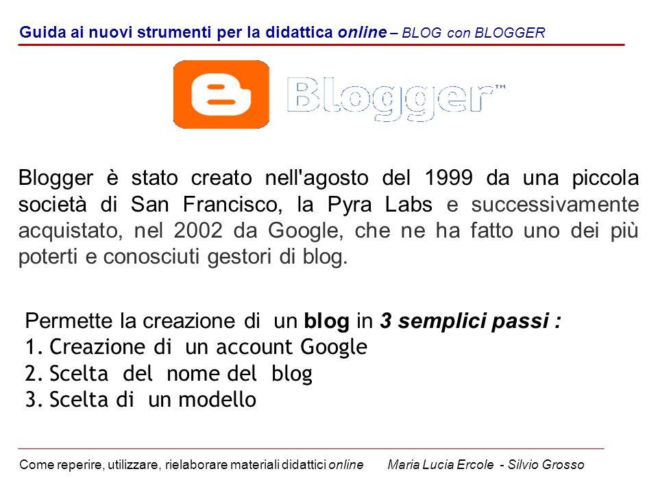 Permette la creazione di un blog in 3 semplici passi :