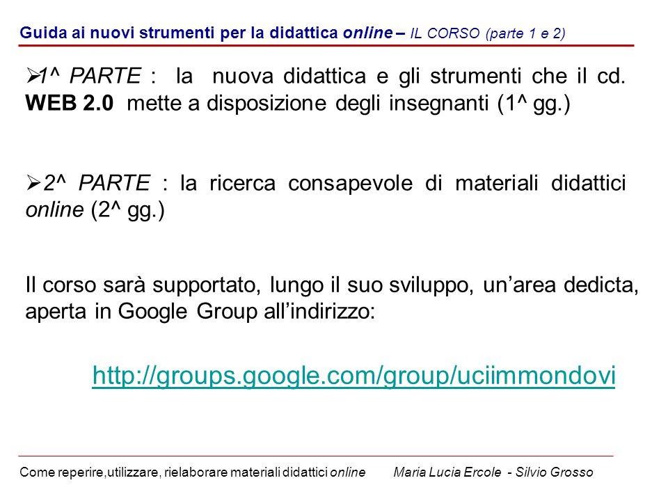u Guida ai nuovi strumenti per la didattica online – IL CORSO (parte 1 e 2)