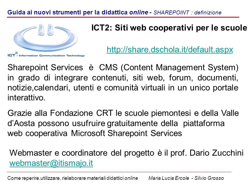 ICT2: Siti web cooperativi per le scuole
