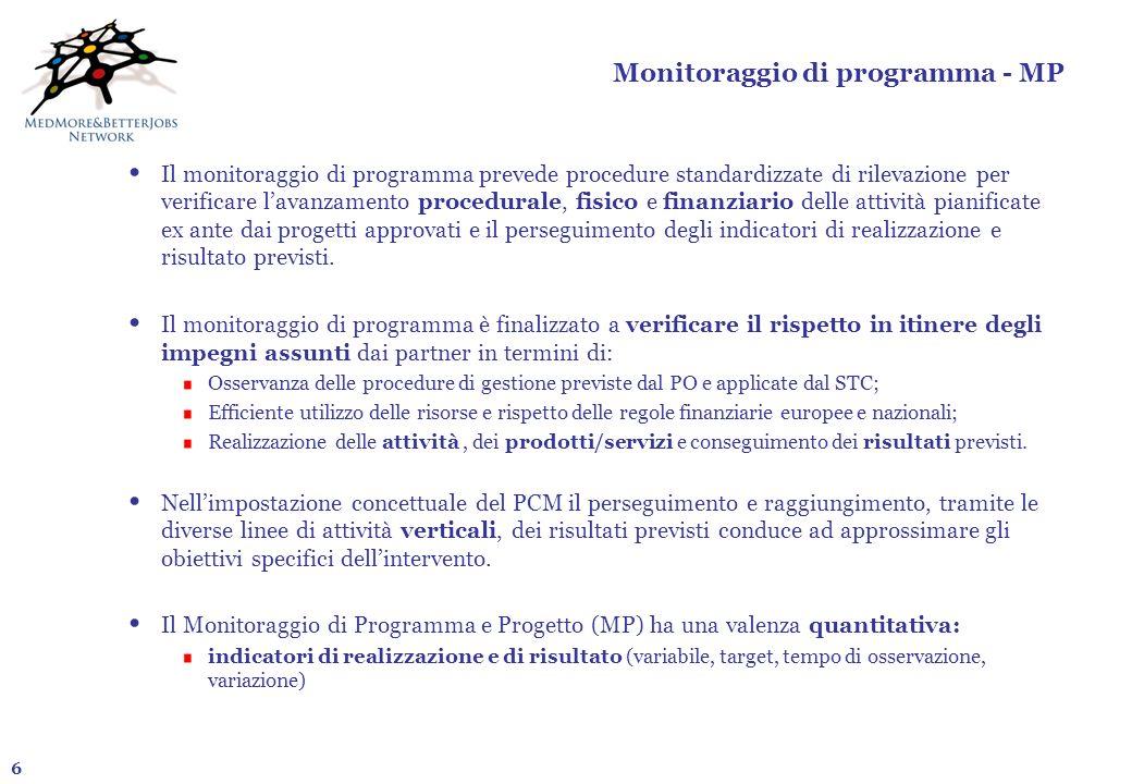 Monitoraggio di programma - MP