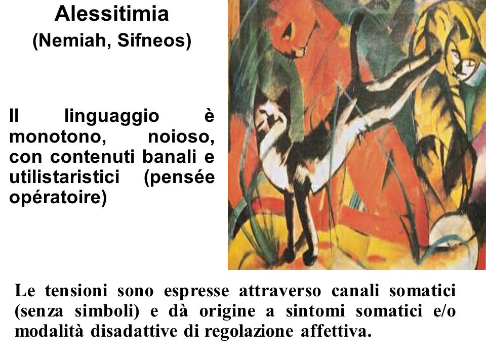 Alessitimia (Nemiah, Sifneos)