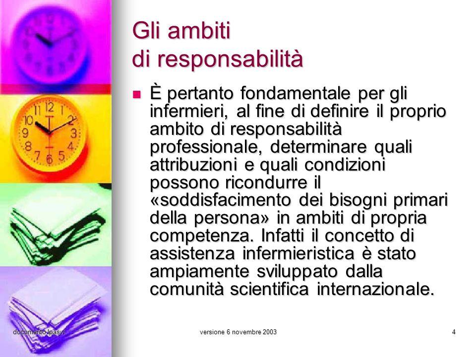 Gli ambiti di responsabilità