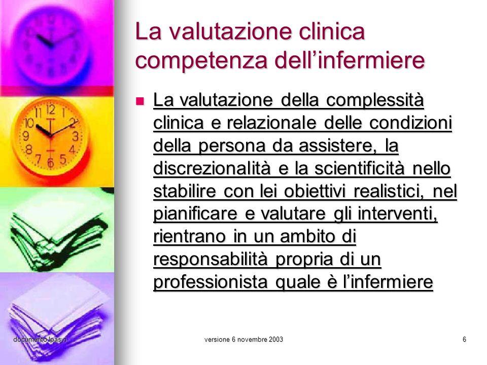 La valutazione clinica competenza dell'infermiere