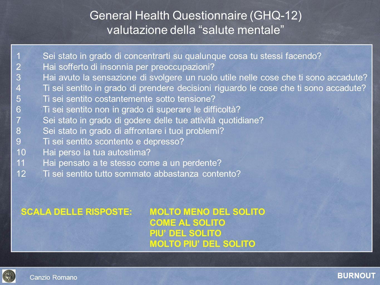 General Health Questionnaire (GHQ-12)