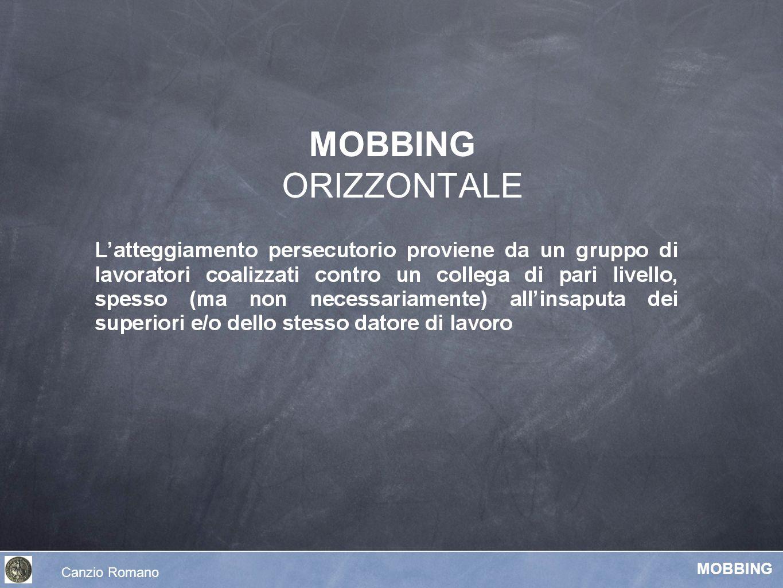 MOBBING ORIZZONTALE Canzio Romano MOBBING