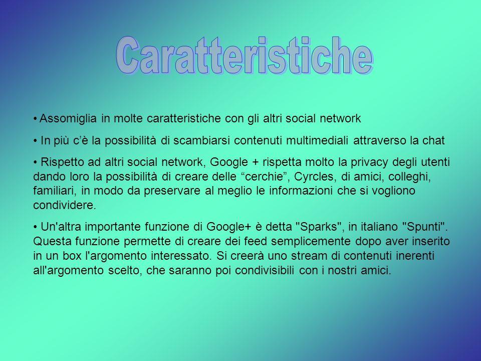 Caratteristiche Assomiglia in molte caratteristiche con gli altri social network.