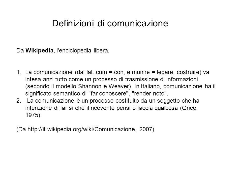 Definizioni di comunicazione