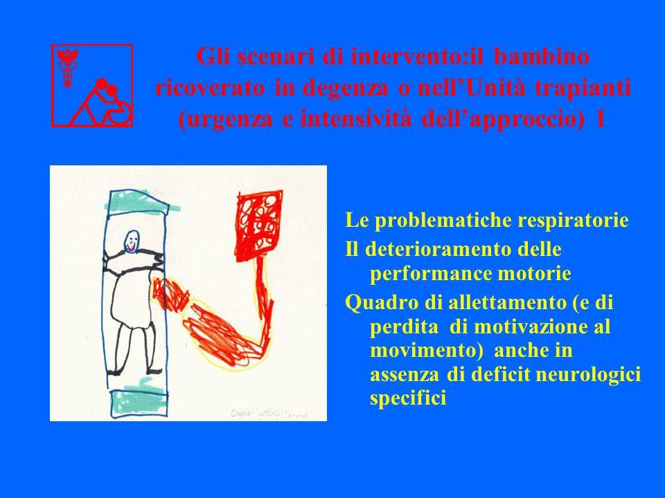 Gli scenari di intervento:il bambino ricoverato in degenza o nell'Unità trapianti (urgenza e intensività dell'approccio) 1