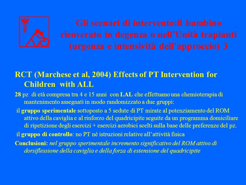 Gli scenari di intervento:il bambino ricoverato in degenza o nell'Unità trapianti (urgenza e intensività dell'approccio) 3