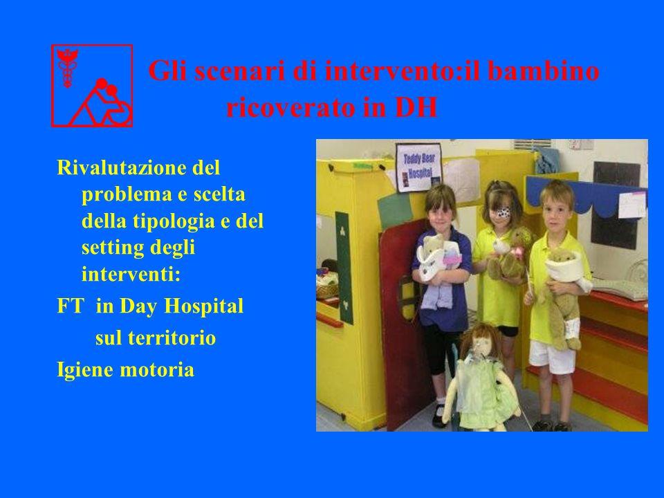 Gli scenari di intervento:il bambino ricoverato in DH