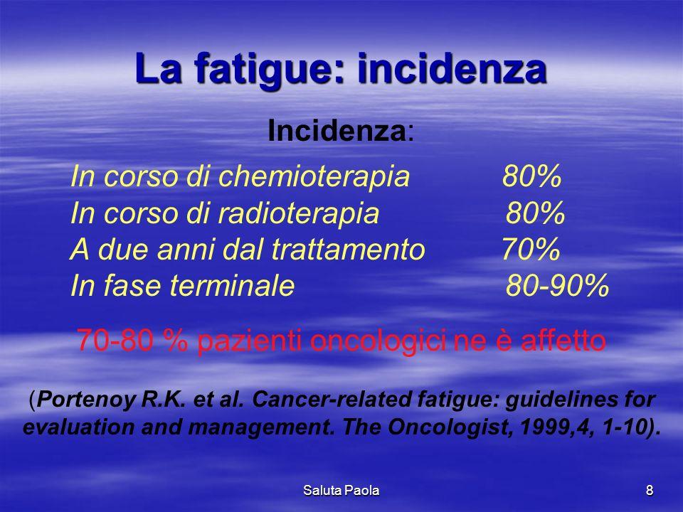 70-80 % pazienti oncologici ne è affetto