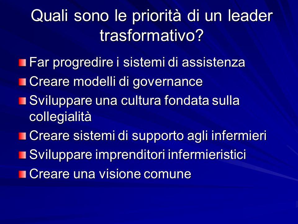Quali sono le priorità di un leader trasformativo