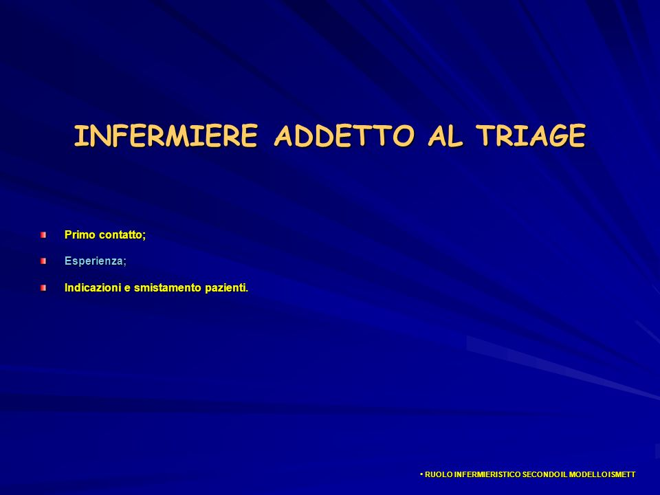 INFERMIERE ADDETTO AL TRIAGE