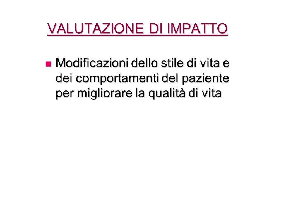 VALUTAZIONE DI IMPATTO