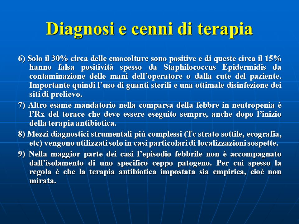 Diagnosi e cenni di terapia