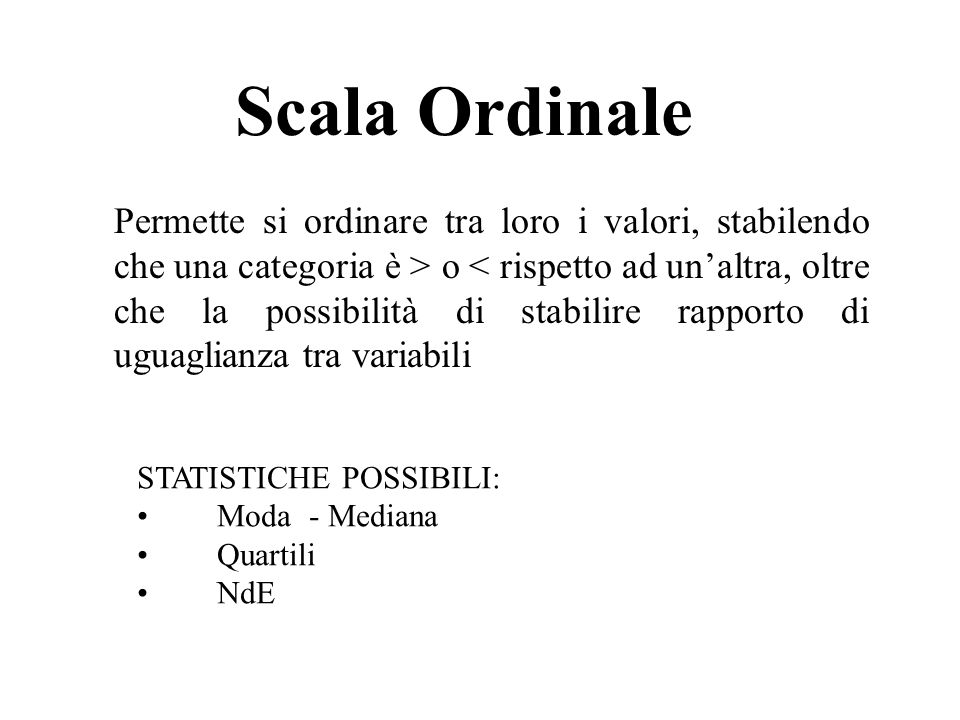 Scala Ordinale